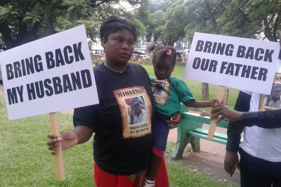 Sheffra Dzamara, wife of missing activist Itai Dzamara.