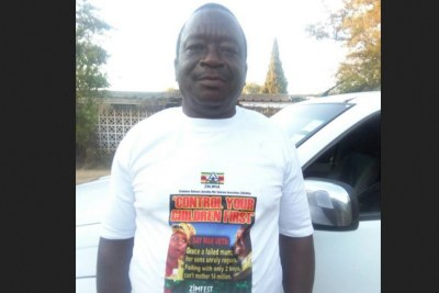 Grace criticised Matemadanda at a rally in Chinhoyi. In response, Matemadanda wore this t