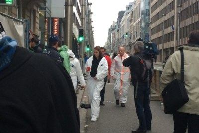 Crews arrive in Brussels to assess damage to the Maelbeek metro station (file photo).