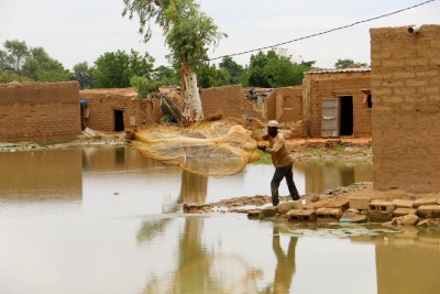 In one of the world's poorest countries, where most houses are made of earth or mud, flooding has destroyed thousands of homes.
