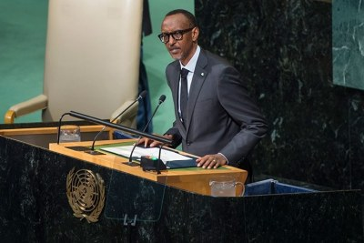 President Kagame addresses the UN General Assembly in New York, U.S.