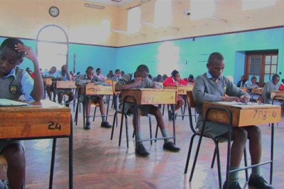 Students sit for exams (file photo).