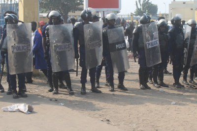 Police in Kinshasa (file photo).
