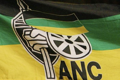 ANC African National Congress flag.