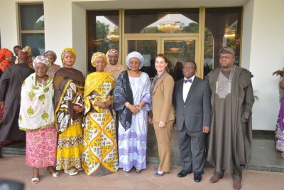 Melinda Gates (center right), co-chair of the Bill and Melinda Gates Foundation attended the Future Assured Initiative's consultation on improving mother/child health and nutrition in Nigeria last January, hosted by First Lady Aisha Buhari (center), attended by senior government officials and Wellbeing Foundation President and the Senate president's wife Toyin Saraki  (center left).