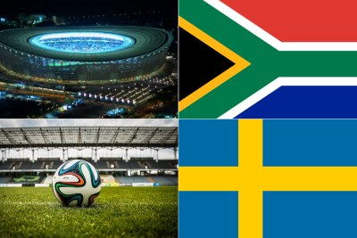 Cape Town Stadium, South African flag, Swedish flag (file photo).