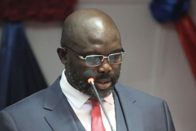 President George Weah delivering his first State of the Nation address.