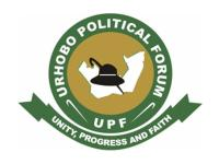Launching: Urhobo Political Forum UK and Ireland (UPF UK & Ireland)