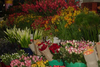 Flowers on display at Nairobi City Market (file photo).