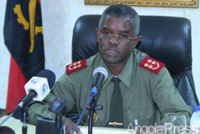 Le chef d`Etat-Major général des Forces Armées Angolaises (FAA), le général Francisco Pereira Furtado.