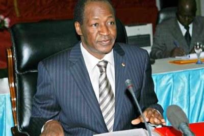 Le president burkinabe Blaise Compaoré.