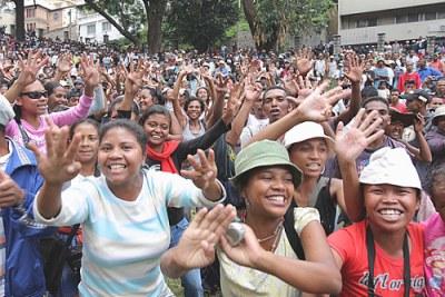 Des supporters de Marc Ravalomanana