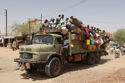 Les camions transportant des migrants dans le nord du Niger (archive)