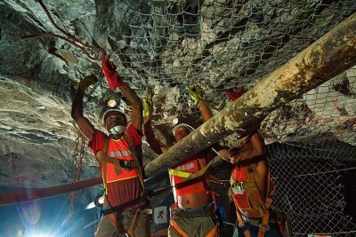 Miners at work at Harmony's Elandsrand mine (file photo).
