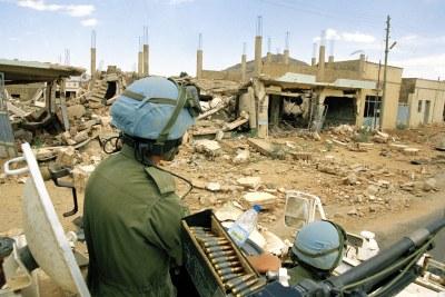 UN peacekeepers patrolling Eritrea (file photo).