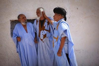 Des réfugiés à Laâyoune, au Sahara occidental.