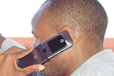 Un téléphone portable utilisé à Dar es Salaam.
