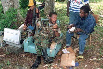 Charles Taylor during the Liberian civil war.