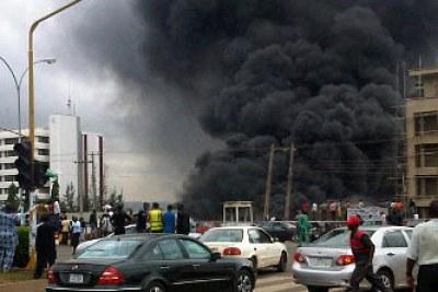 Abuja police headquarters blast.