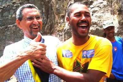 Jorge Carlos Fonseca en campagne. Le 21 Aout, il a remporté la présidentielle