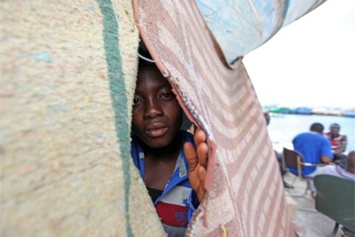 Migrants have gathered in Sidi Bilal because they feel safer as a group (file photo).