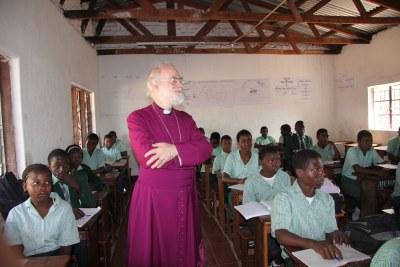 At a Malawi school (file photo).
