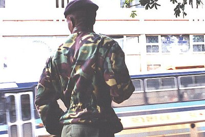 A Swazi soldier.