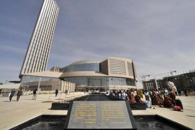 The new African Union building in Addis Ababa.