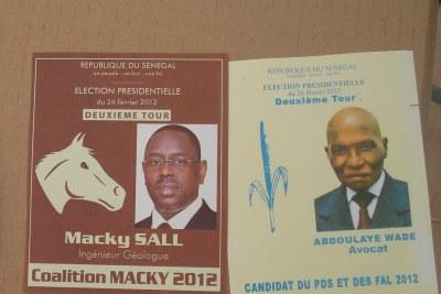 Le scrutin pour le second tour de l'élection présidentielle devant départager le président sortant, Abdoulaye Wade, et son ancien Premier ministre, Macky Sall, le dimanche 25 Mars 2012.