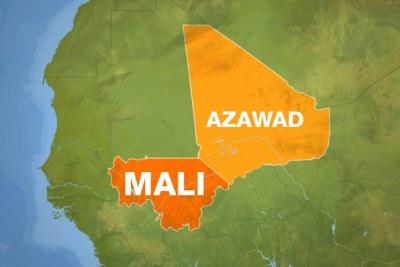La carte géographique du Mali