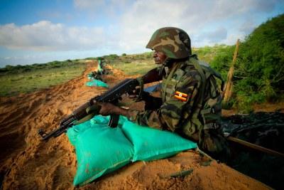 AMISOM troops on Mogadishu's frontline.