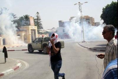 Manifestations à Sidi Bouzid
