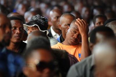 Commémoration des victimes de la tuerie de Marikana, 23 août 2012.
