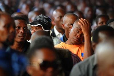 (Archive) - Des mineurs de Marikana, 23 août 2012