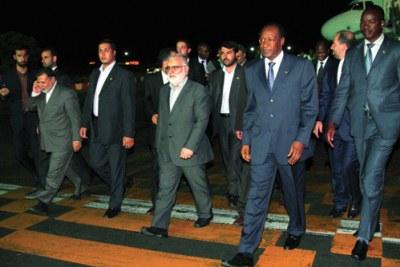 Blaise Compaoré au sommet des pays non alignés à Téhéran avec d'autres délégations africaines