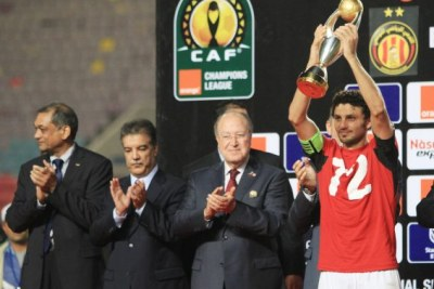 Despite  Al Ahly's 1-1 draw in the first leg final at home in Alexandria the team beat hosts Esperance 2-1 in the return leg game to win the trophy.