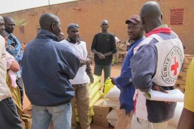 Aid Distribution Site in Konna.