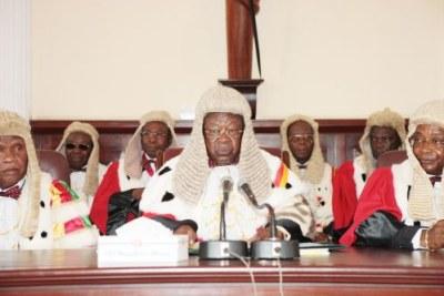 La Cour suprême du Cameroun proclamant les résultats officiels des Sénatoriales d'avril 2013