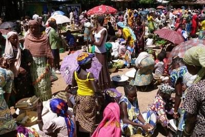 Marché de la ville de Ndélé