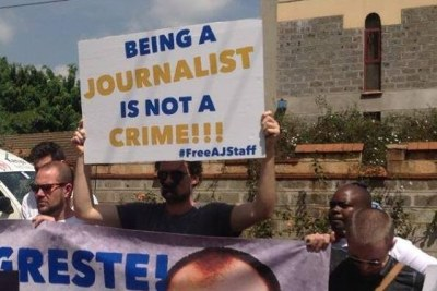 Kenyan journalists support colleagues detained in Egypt (file photo).
