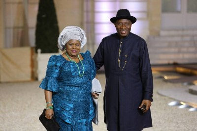 Former first Lady Patience Jonathan  and Goodluck Jonathan.
