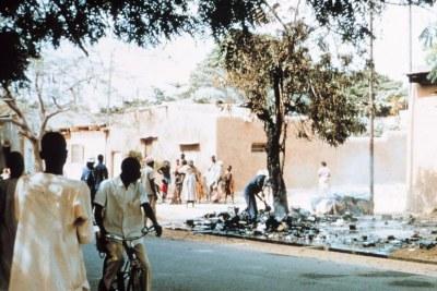 Rue de Ndjamena au Tchad.