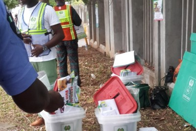 The polling unit at AP plaza Wuse.