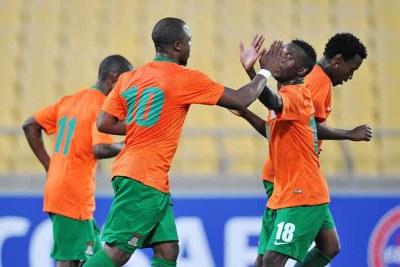 Les joueurs zambiens célébrant l'une de leurs victoires lors de la Coupe Cosafa 2015