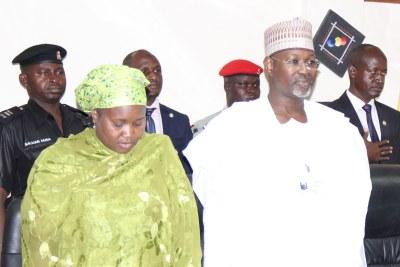 Amina Zakari with former INEC Chairman, Attahiru Jega.
