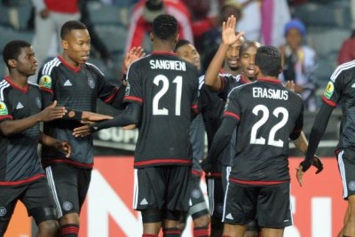 Orlando Pirates celebrate victory (file photo).