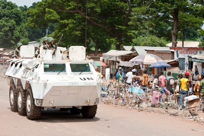 Peacekeepers in CAR (file photo).