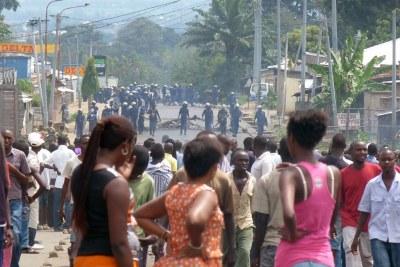 Protests in Bujumbura (file photo).
