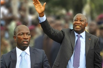 Laurent Gbagbo and Charles Blé Goudé (file photo).