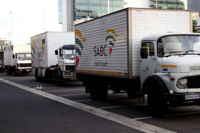 Trucks of the SABC (file photo).